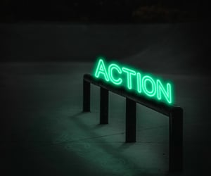 Action, happy, and neon image
