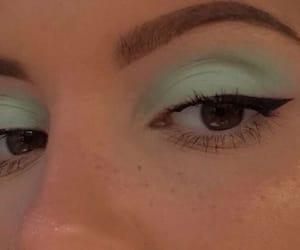 makeup, green, and girl image