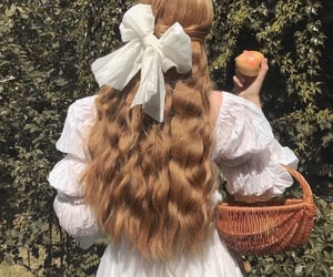 hair, aesthetic, and cottagecore image