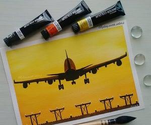 arte, aviones, and pinturas image