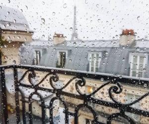 rain, paris, and architecture image