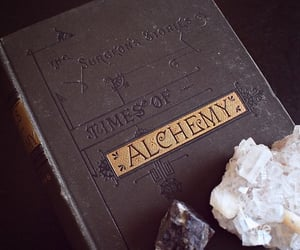 book, alchemy, and magic image