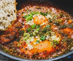 breakfast, pepper, and scrambled eggs image