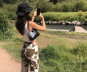 girl, nature, and outfit image