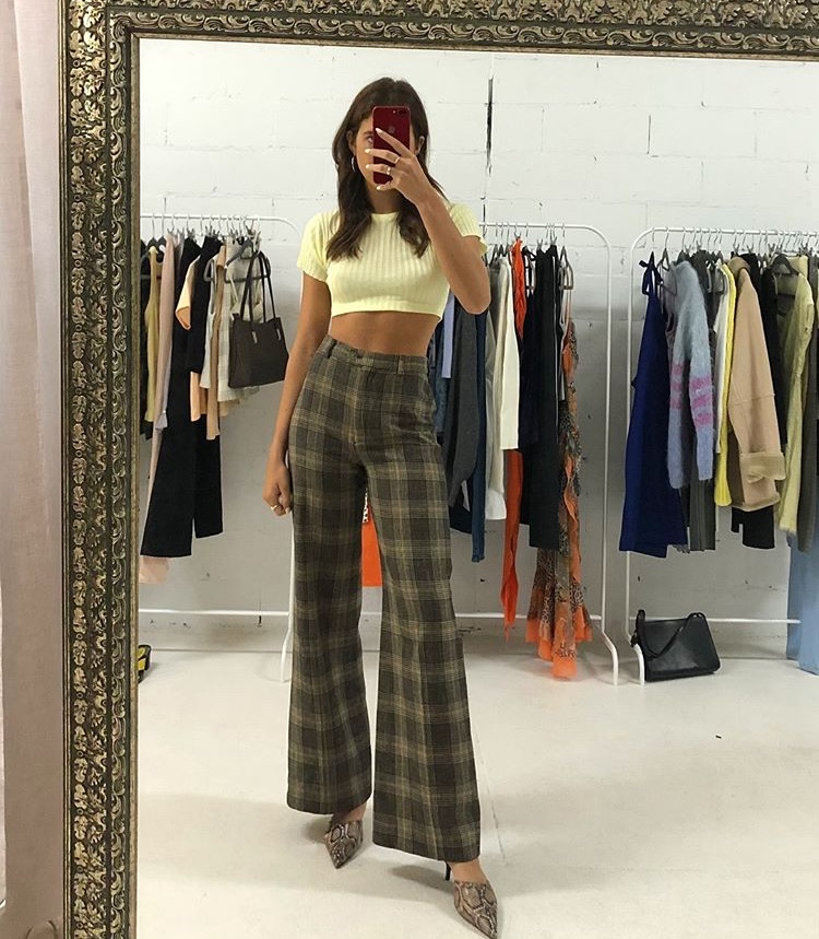 80's vibes, vintage retro vibes, and wide leg pants image