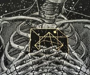 skeleton, dotwork, and artwork image