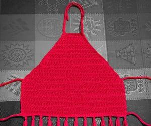 bohemian, tejido, and halter top image