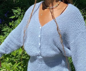 baby blue, braids, and comfy image
