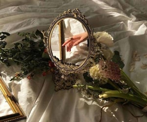 mirror, flowers, and luxury image
