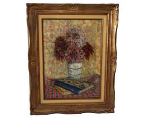 etsy, floral bouquet, and antique painting image