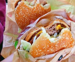 cheese, junkfood, and burger image