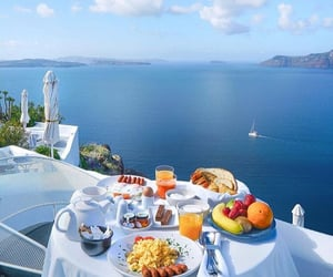 sea, travel, and breakfast image