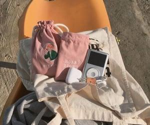 ipod, orange, and pink image