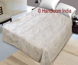 etsy, embroidered quilt, and mirror work bedcover image