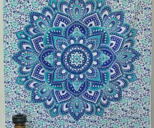 etsy, table cloth, and indian tapestry image