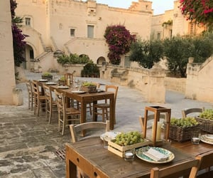 summer, dinner, and italy image