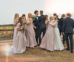 boyfriend, bride, and couple image