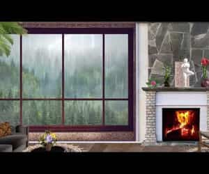 cozy, fireplace, and reduce stress image