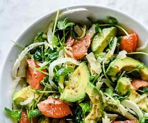 avocado, grapefruit, and salad image