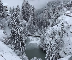 nature, snow, and travel image