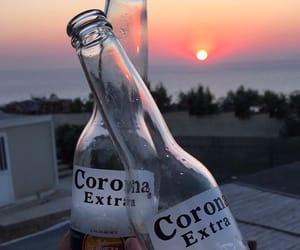 beer, corona, and drink image