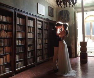 love, library, and book image