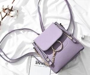 purple and handbag image