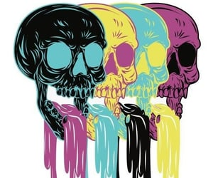 art, cool, and skull image