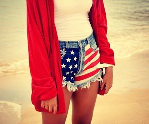 usa, red, and beach image