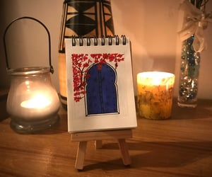 art, mood, and santorini image