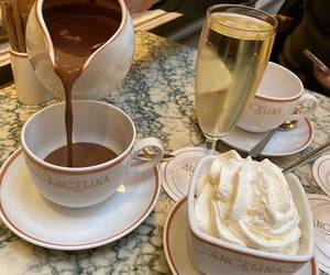 cafe, champagne, and chocolate image
