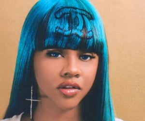 chanel, Lil Kim, and blue hair image