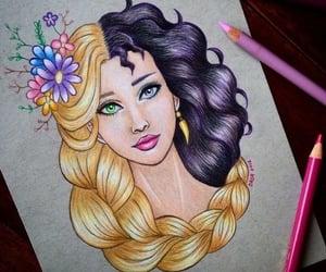 belleza, princesa, and arte image