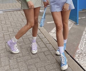 blue, converse, and girlfriends image