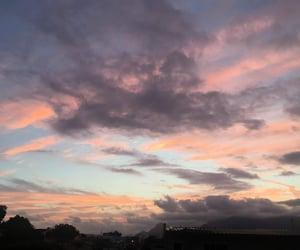 beautiful sky, nuvens, and rosa image