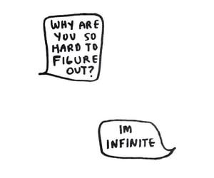 beautiful, conversation, and infinite image