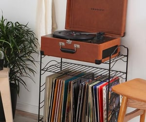 music, record player, and records image