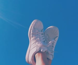 blue, sky, and shoes image