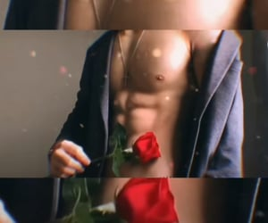 boy, flower, and Hot image