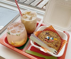 cafe, cookie, and iced coffee image