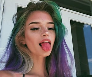 color hair, fashion, and girl image