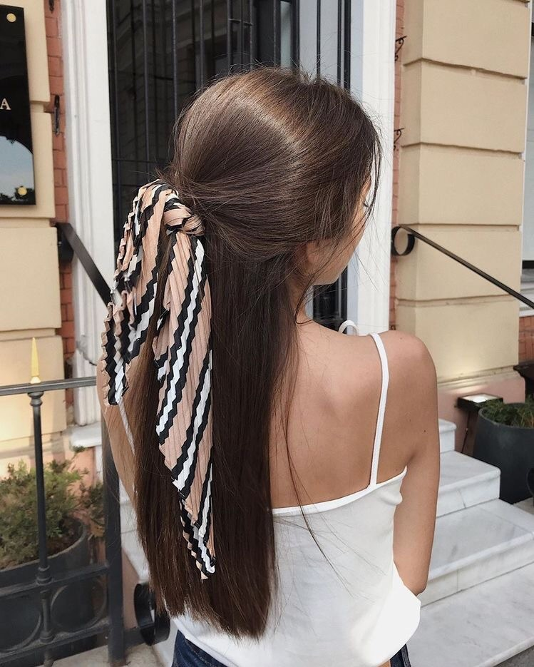 hair, hairstyle, and scarf image