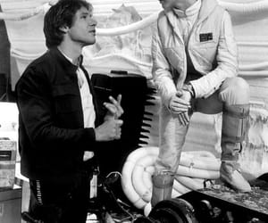 star wars, carrie fisher, and han solo image