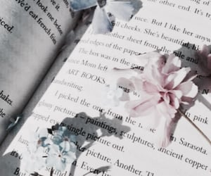flowers, book, and soft image