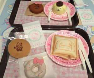pink, food, and hello kitty image