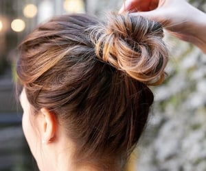 bun, hairstyle, and updo image