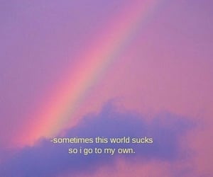 quotes, rainbow, and world image