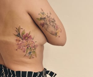body art, tattoo, and colortattoo image