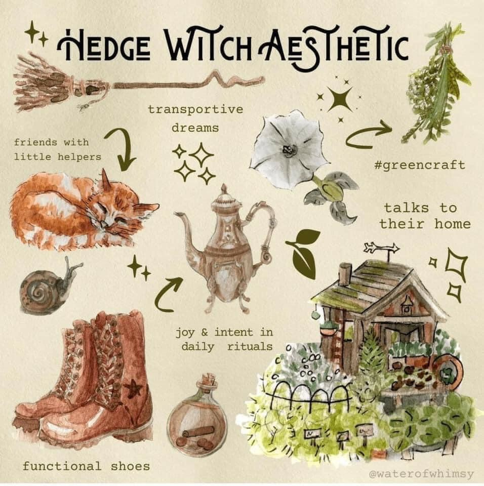 witch, hedge witch, and witch aesthetic image