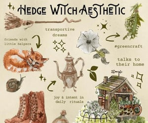 witch, witchcraft, and garden witch image